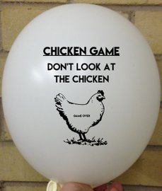 Rude Balloon Chicken Game