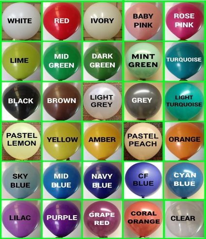 balloon colour chart