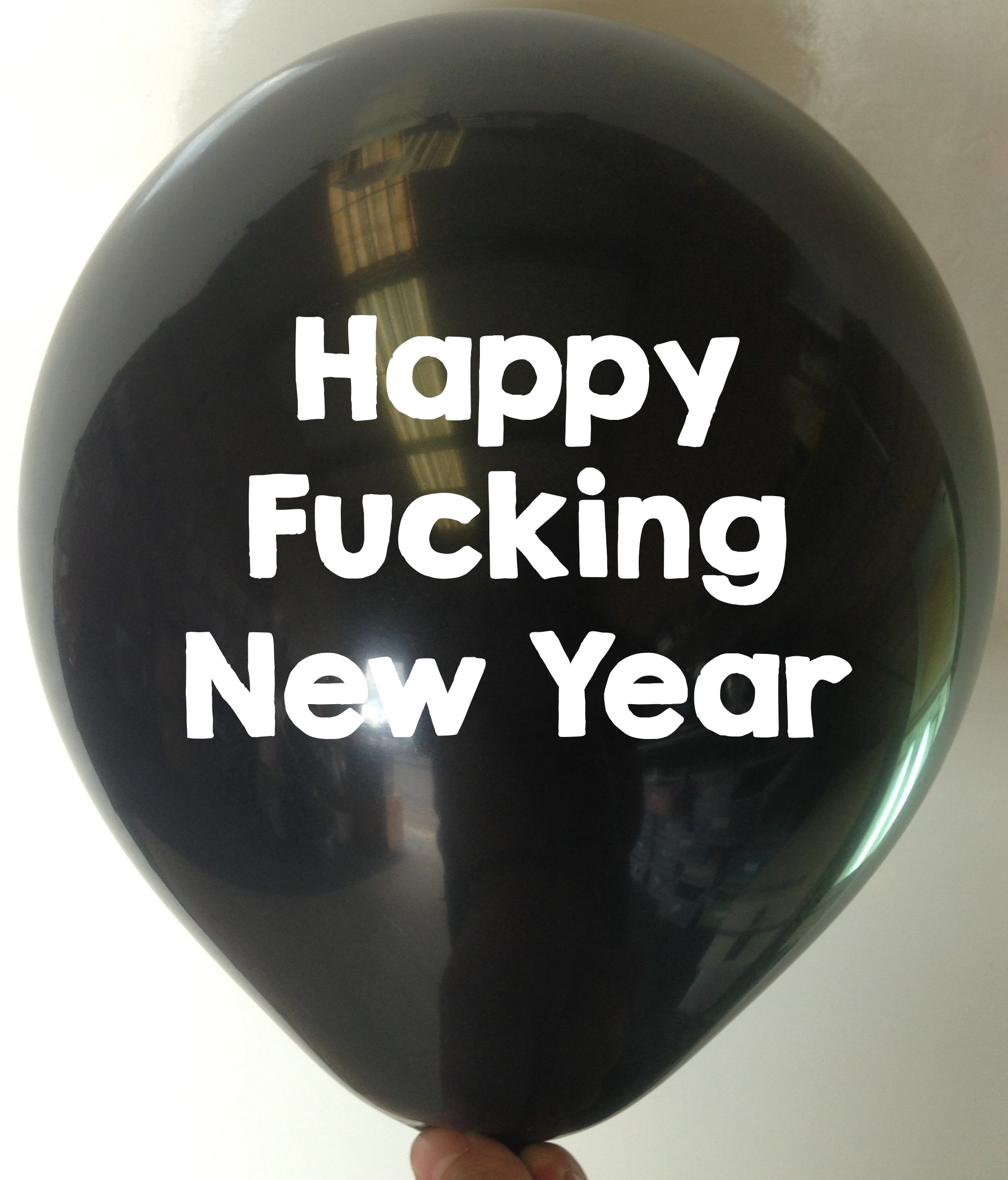 Rude Balloon Happy Fucking New Year
