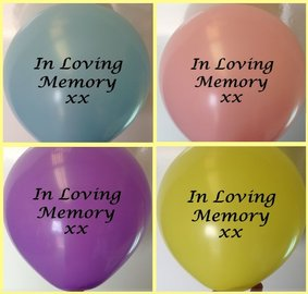Memorial Balloons Assorted In Loving Memory