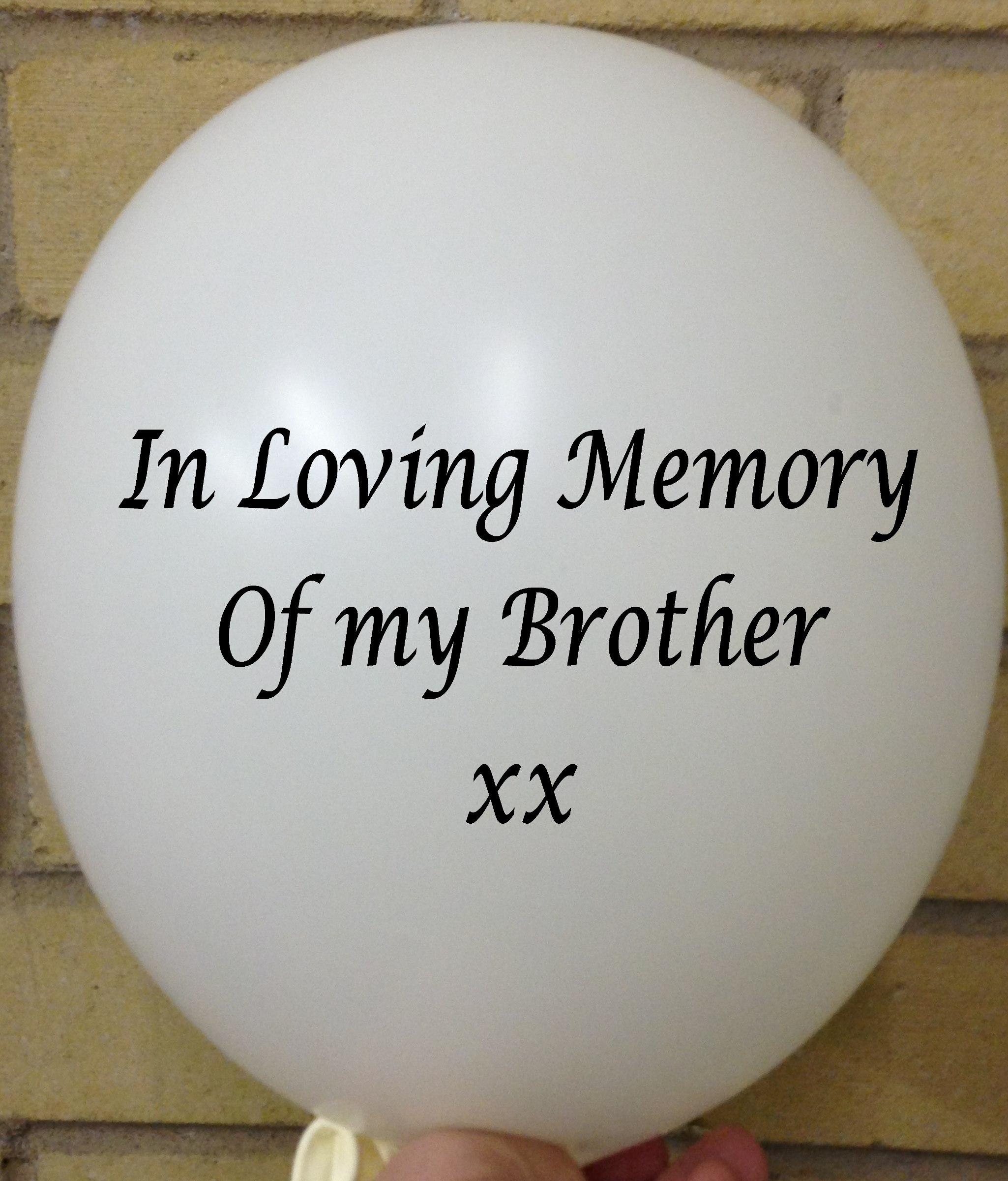 Memorial Balloons In Loving Memory of Brother