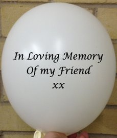 Memorial Balloons In Loving Memory of Friend