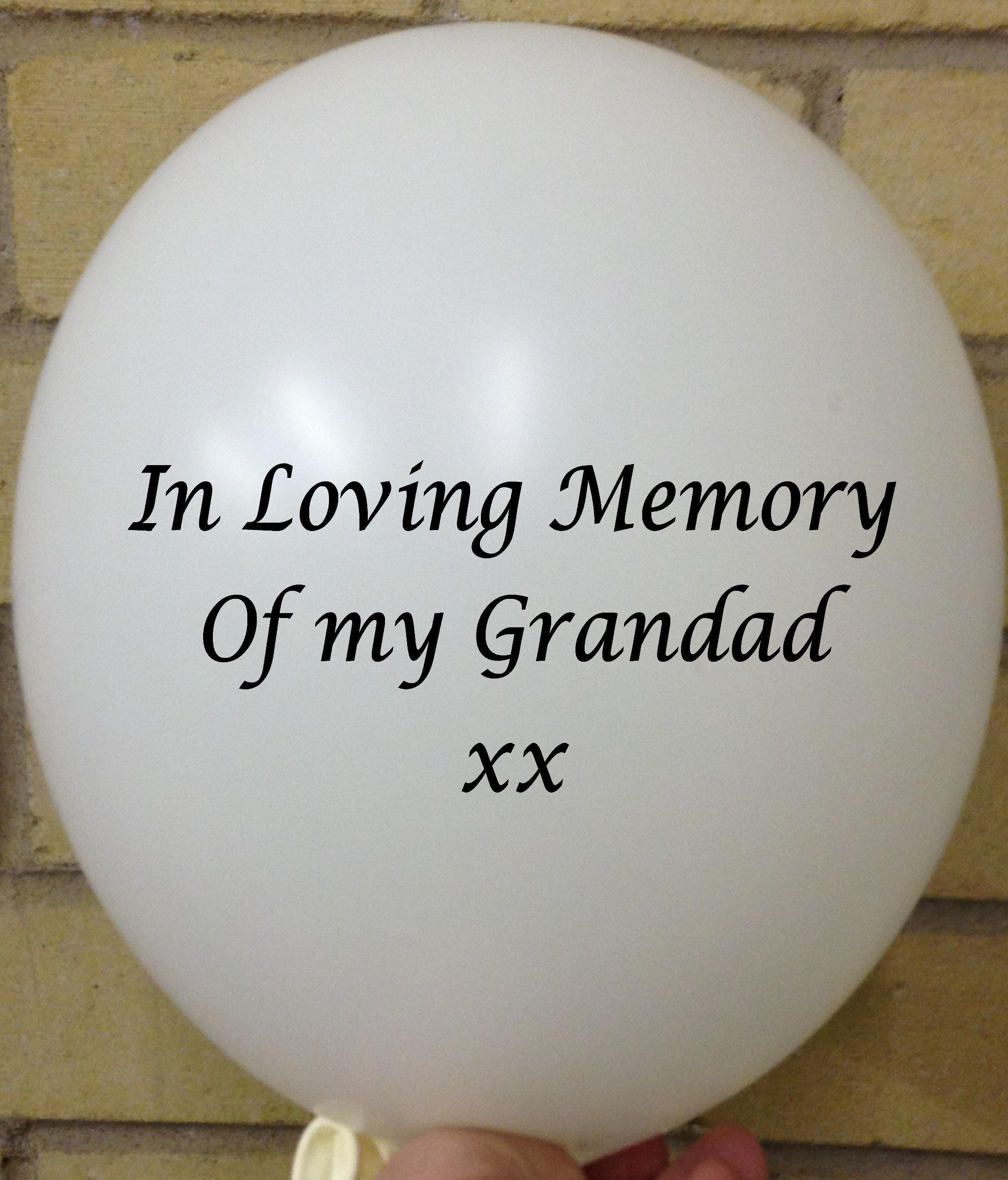Memorial Balloons In Loving Memory of Grandad