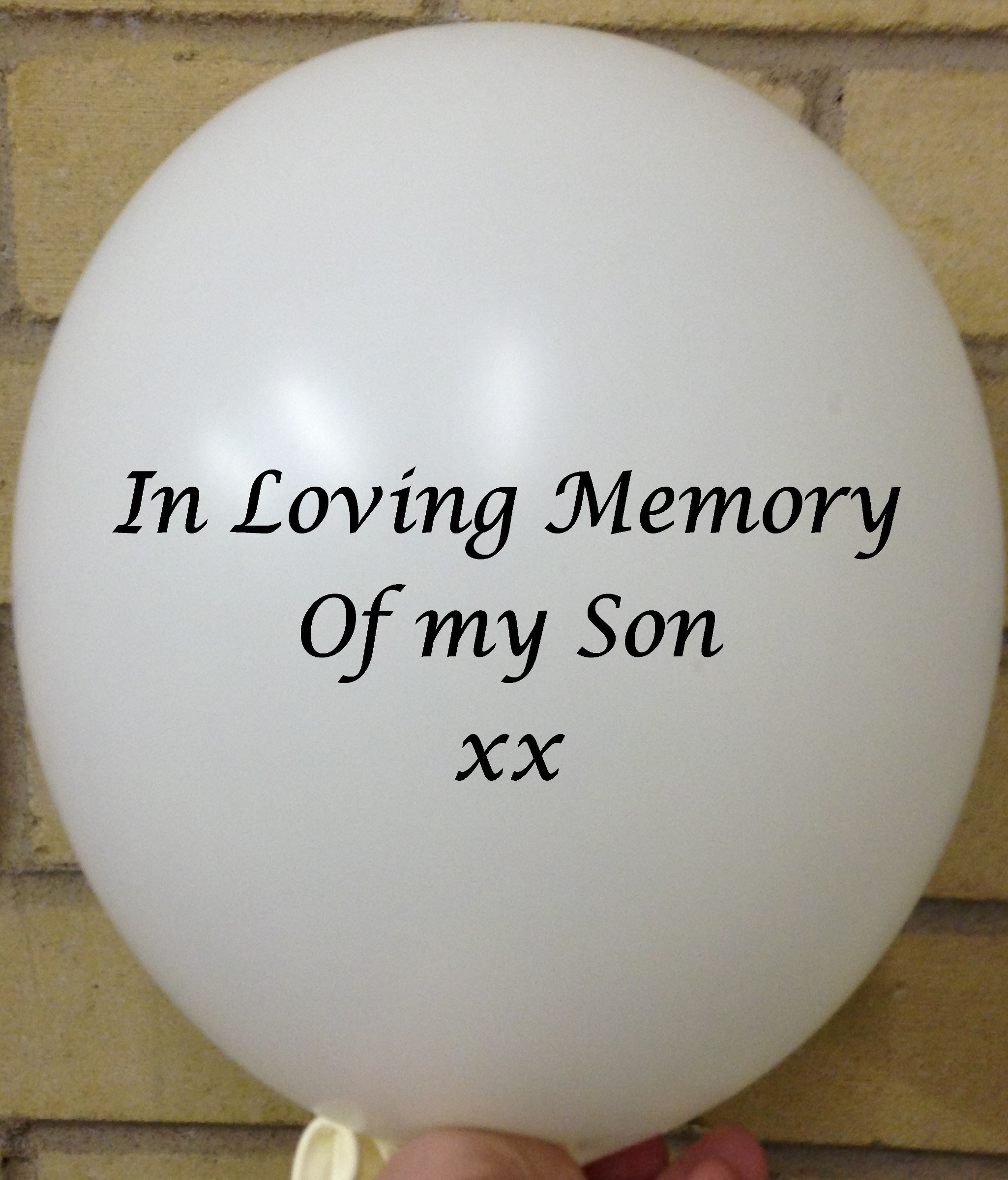 Memorial Balloons In Loving Memory of Son