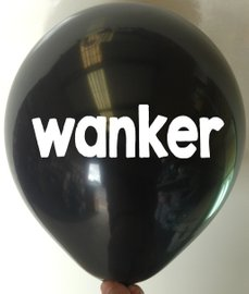 Rude Balloon wanker