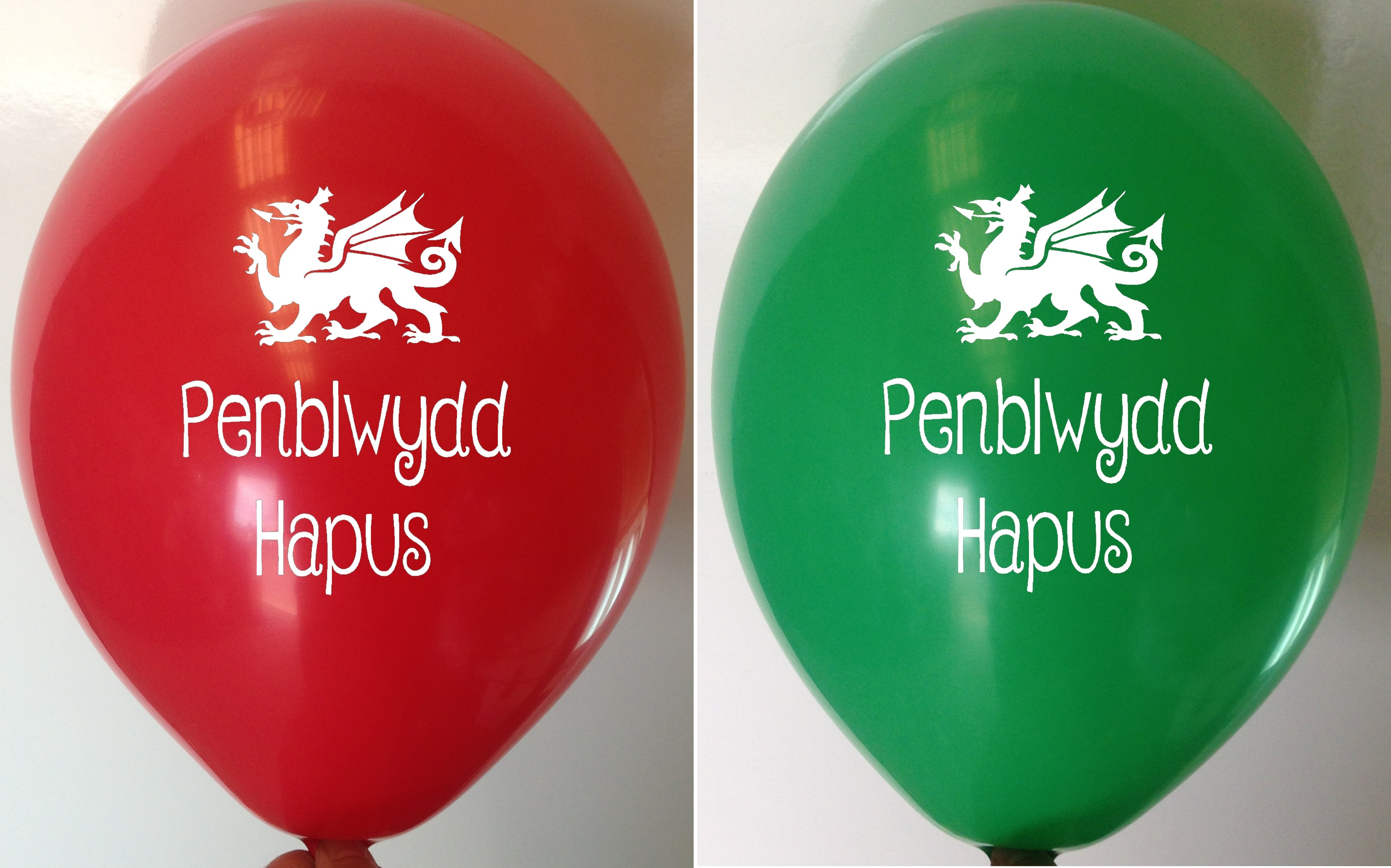 Welsh Happy Birthday Balloons
