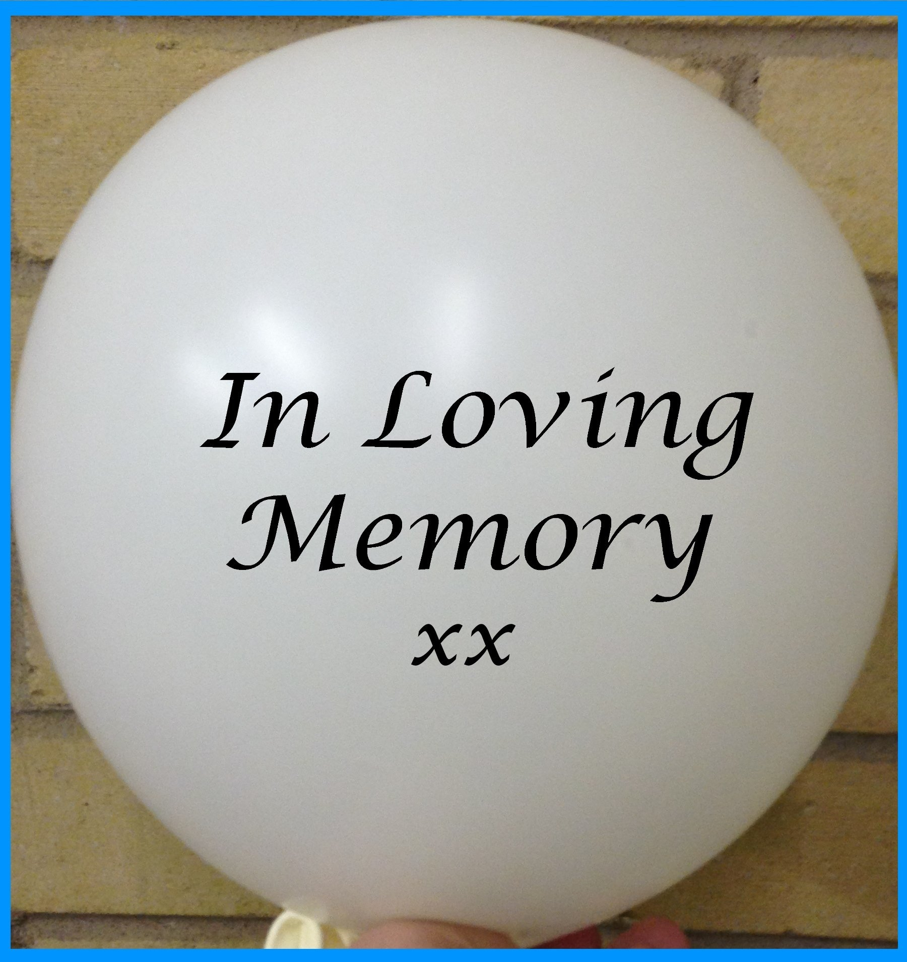 Memorial Balloons White In Loving Memory